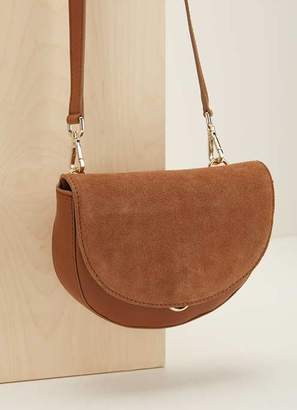 Mint Velvet Sam Tan Leather Saddle Bag