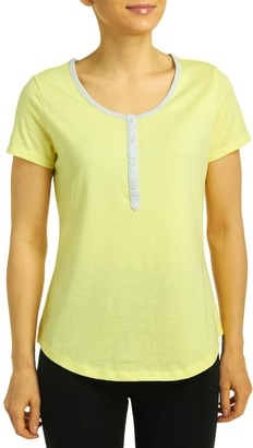 Jockey Women's Short Sleeve Henley Top