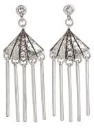 Gerard Yosca Fan Fringe Crystal Earrings