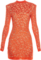 Balmain Coral-effect knit dress