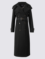 M&S Collection Cotton Rich Trench Coat with StormwearTM