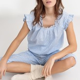 La Redoute Collections Dotted Pyjamas with Short Ruffled Sleeves