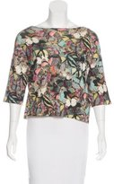 Valentino Cashmere Camu Butterfly Top