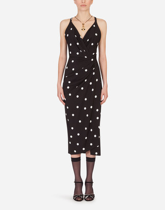 Dolce & Gabbana Sheath Dress With Polka-Dot Print
