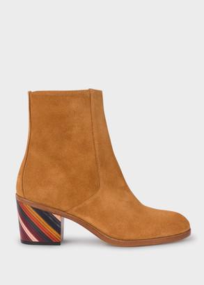 Paul Smith Women's Tan Suede 'Malea' Boots