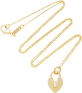 Monica Rich Kosann 18K Gold Diamond Heart Lock Charm Necklace