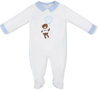 Fendi Kids Teddy Bear Print Pajamas