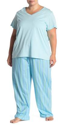 Hue Tick Top Stripe Pajama Pants (Plus Size)