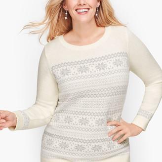 Talbots Sparkle Fair Isle Sweater