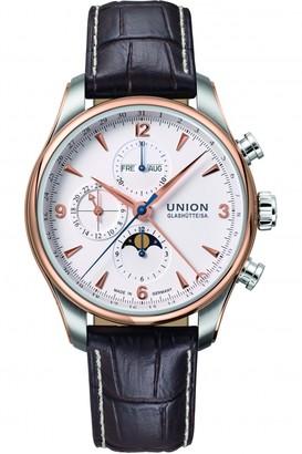 Mens Union Glashuette Belisar Moonphase Automatic Chronograph Watch D9044254601711