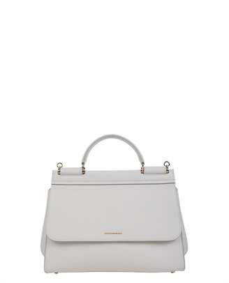 Dolce & Gabbana White Soft Sicily Bag M