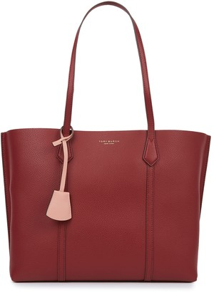 Tory Burch Perry Burgundy Leather Tote