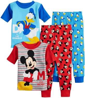 Disney Disney's Mickey Mouse & Donald Duck Toddler Boy Tops & Bottoms Pajama Set