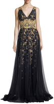 Marchesa Royalty Sleeveless Gown