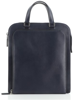 Prada Travel Briefcase Saffiano Leather Tall