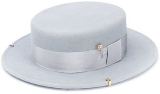 Ruslan Baginskiy Canotier chain detail hat