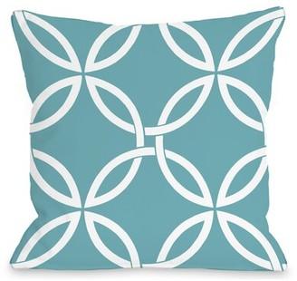 One Bella Casa Interwoven Circles Outdoor Throw Pillow Cover & Insert One Bella Casa