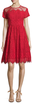 Maggy London Bavarian Leaf Lace Flared Dress