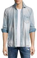 Hudson Weston Distressed Denim Shirt, Light Wash