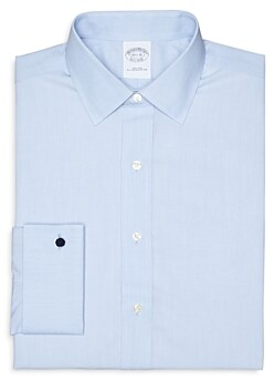 Brooks Brothers Solid Broadcloth Non-Iron French Cuff Dress Shirt - Regent Fit
