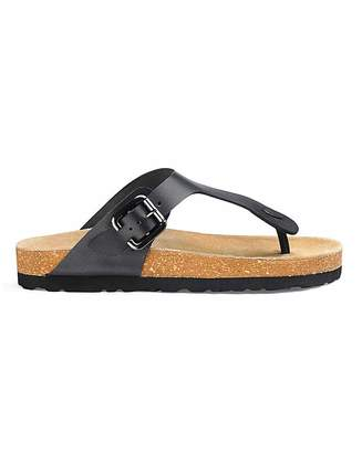 Jd Williams Leather Footbed Toe Post Sandals E Fit
