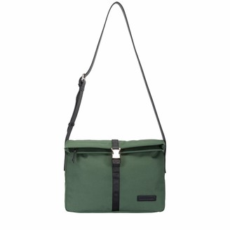 Smith & Canova Mens Fold Over Clasp Fastening Messenger Shoulder Bag Green (Khaki)