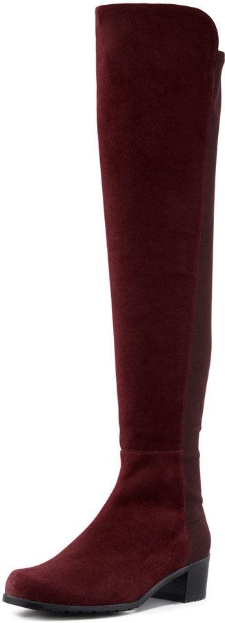 Stuart Weitzman Reserve Suede Over-the-Knee Boot, Bordeaux