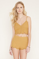 Forever 21 FOREVER 21+ Embroidered Cropped Cami