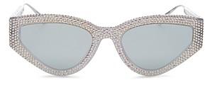 Christian Dior Women's Embellished Cat Eye Sunglasses, 52mm