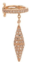 Elise Dray Diamond & pink-gold ear cuff