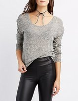 Charlotte Russe Hacci Scoop Neck Tunic Top