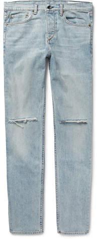 Rag & Bone Fit 2 Slim-Fit Distressed Stretch-Denim Jeans