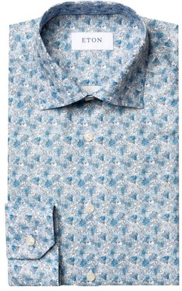Eton Contemporary-Fit Allover Floral Dress Shirt