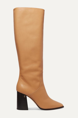 Jimmy Choo Brionne 85 Leather Knee Boots - Beige