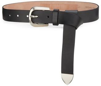 Michael Kors Loop Waist Leather Belt
