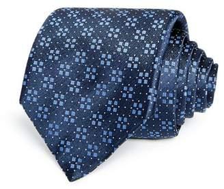 HUGO Square Florette Micro Dot Neat Silk Skinny Tie