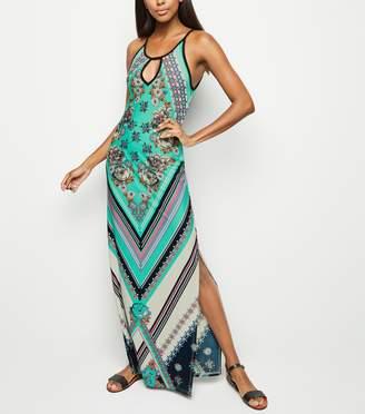 New Look Floral Diamond Print Maxi Dress