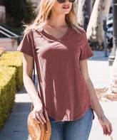Amaryllis Women's Tee Shirts SLUBBED - Terra Cotta Relaxed Hi-Low Tee - Women