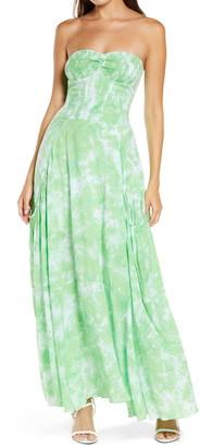 S/W/F Smocked Bodice Maxi Dress