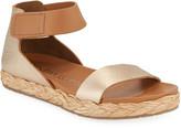 Pedro Garcia Jaida Metallic Leather Ankle-Strap Sandals