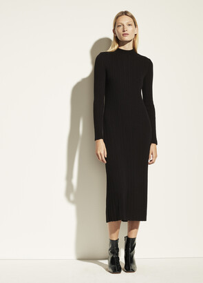 Vince Variegated Rib Sweater Dress