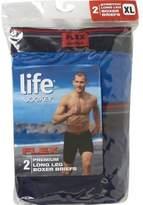 Jockey Life by Mens Long Leg Boxer Briefs - 2 Pack Mens Boxers