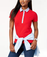 Tommy Hilfiger Chambray-Trim Polo Top, Created for Macy's