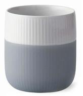 Royal Copenhagen Contrast Fluted Mug - White/Gray