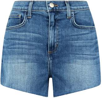 L'Agence Ryland High-Waist Zip Shorts