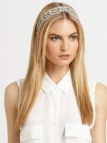 Jennifer Behr Swarovski Crystal & Silk Headwrap