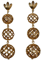 Lele Sadoughi Tiered Pineapple Earrings