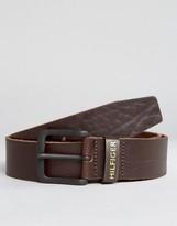 Tommy Hilfiger Original Logo Leather Belt Brown