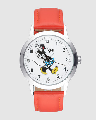 Disney Bold Minnie Red Strap White Dial