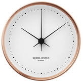 Georg Jensen Henning Koppel Clock - Copper & White - 22cm